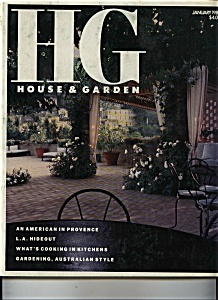 House & Garden (HG) Magazine - January 1989 (Image1)