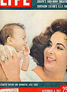 Life Magazine - November 4, 1957 ELIZABETH TAYLOR (Image1)