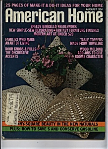 American Home Magazine - August 1973