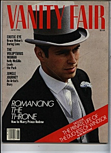 Vanity Fair Magazine - June 1986 (Image1)