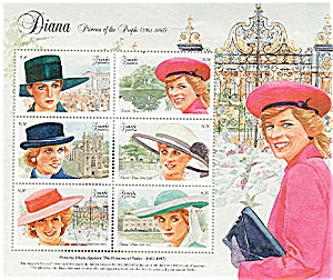 Princess Diana GRENADA GRENADINES Stamp Sheet Mint (Image1)