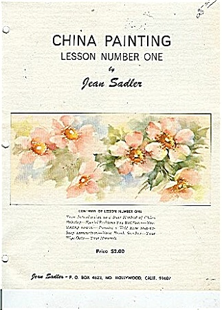China Painting Lesson 1 By Jean Sadler Oop
