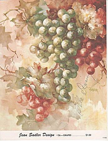 Jean Sadler - Grapes - Study 26 - Oop - 1962