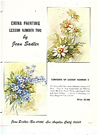 China Painting Lesson 2 - By Jean Sadler - Oop -