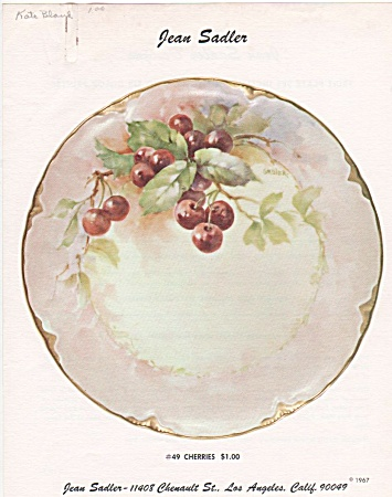 ~JEAN SADLER~CHERRIES DESIGN~49~VINTAGE (Image1)