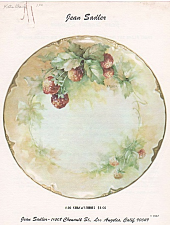 VINTAGE~~JEAN SADLER~STRAWBERRIES DESIGN~50~ (Image1)