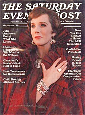 1996 SATURDAY EVENING POST JULIE ANDREWS (Image1)