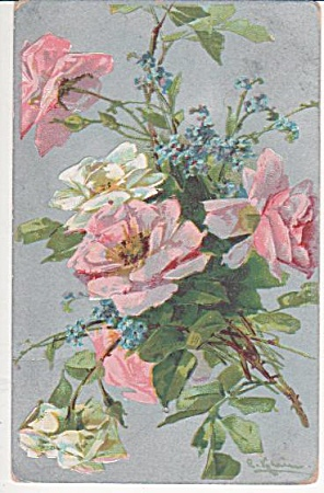 C.klein - Vintage - Roses - Post Card - 1910
