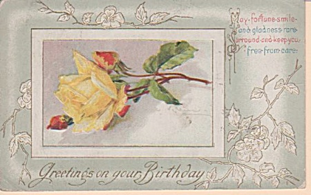 VINTAGE~C. KLEIN~ROSE POST CARD~OOP (Image1)