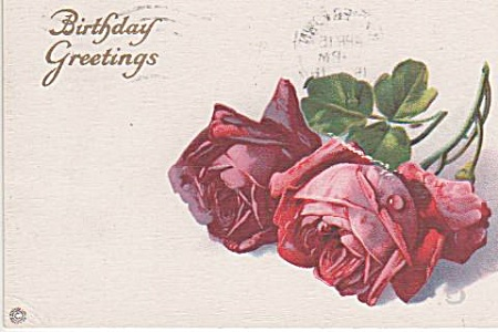 CATHERINE KLEIN`VINTAGE ~RED ROSES~POST CARD~ (Image1)