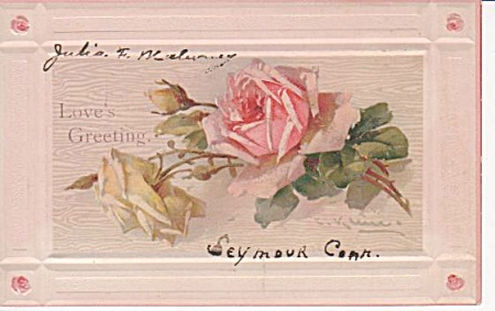 CATHERINE KLEIN~ROSES~POSTCARD~1910~STUDY (Image1)