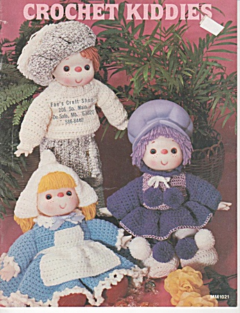 Vintage - Crochet Kiddies - Dolls - Oop - 1984
