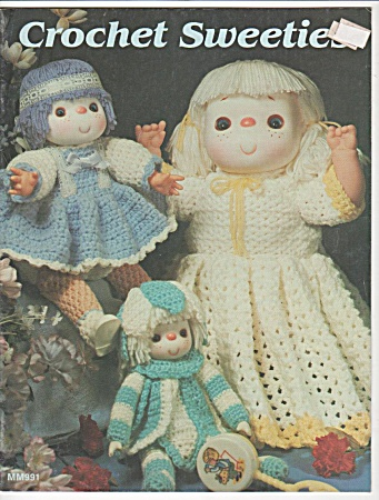 Vintage - Crochet Sweeties - Dolls - Oop - 1984