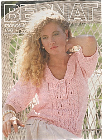 Vintage - Bernat - 3 Sweater Patterns -
