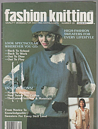 Fashion Knitting Magazine - Number 20 - Aug - 1985