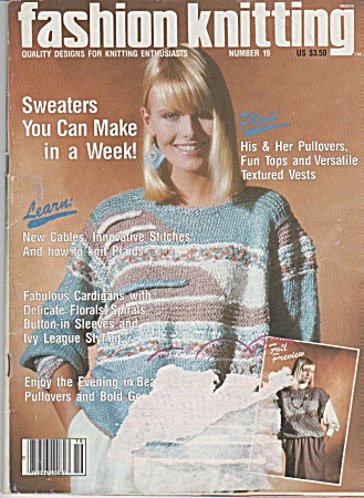 Vintage - Fashion Knitting Magazine - No.19 - 1985