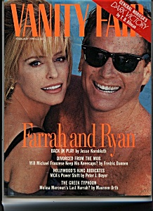 Farrah Fawcett Vanity Fair Magazine - February 1991