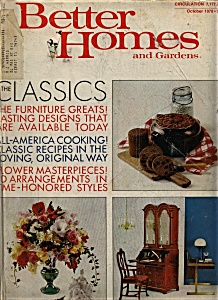 Better Homes And Gardens Magazine- October 1970