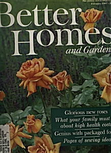 Better Homes and Gardens magazine - February 1961 (Image1)