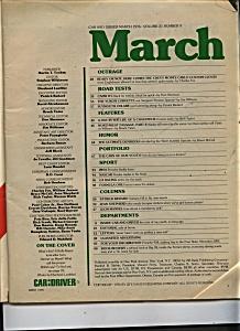 Carl & Driver Magazine - March 1976 (Image1)