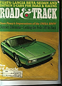 Road & Track  magazine - November 1975 (Image1)