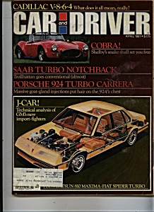 Car and Driver Magazine- April 1981 (Image1)
