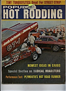 Popular Hot Rodding Magazine- January 1968 (Image1)