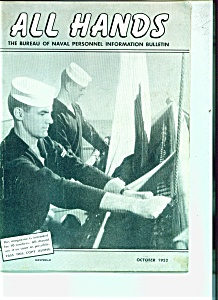 All Hands - U.s. Navy - October 1952