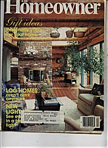 The Homeowner magazine - December 1985 (Image1)