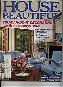 House Beautiful Magazine - February 1984