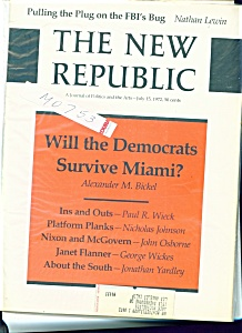 The New Republic Magazine - July 15, 1972 (Image1)