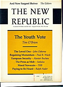 The New Republic Magazine - August 19 & 26, 1972 (Image1)
