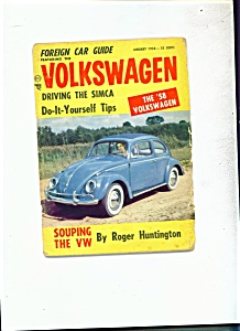 FOREIGN CAR GUIDE - January 1958 (Image1)