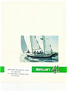 Irwin Yacht brochure - St. Clair Shores, Michigan (Image1)