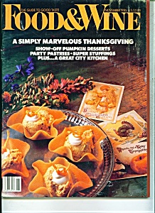 Food & Wine Magazine - November 1985 (Image1)