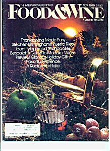 Food & Wine Magazine - November 1979