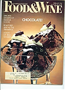 Food & Wine Magazine - February 1984 (Image1)