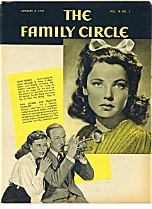 The Family Circle Magazine January 3, 1941