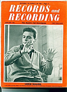 Records and Recording magazine - January 1961 (Image1)