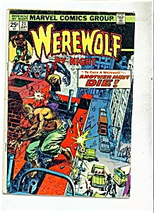 Werewolf by Night comic book - # 21 September 1974 (Image1)