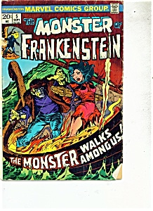 The Monster of Frankenstein comic - # 5  September 1973 (Image1)
