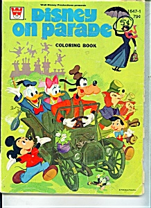 1973 DISNEY ON PARADE COLORING BOOK  1647-1 (Image1)
