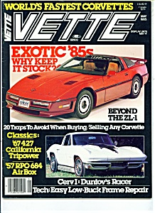 Vette  magazine - May 1985 (Image1)