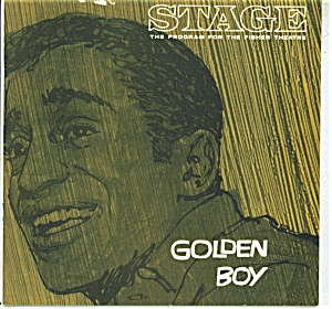 Stage play program -Fisher Theature - 1964 Golden boy (Image1)