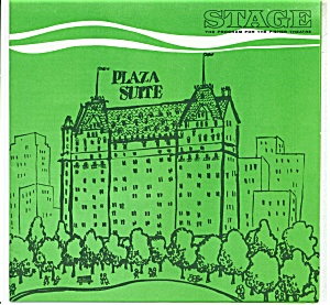 Stage play program -Fisher Theature - 1964 Plaza Suite (Image1)