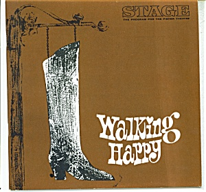 Stage play program -Fisher Theatre - 1967 Walking hap (Image1)