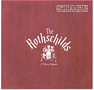 Fisher Stage Program - The Rothschilds - 1969