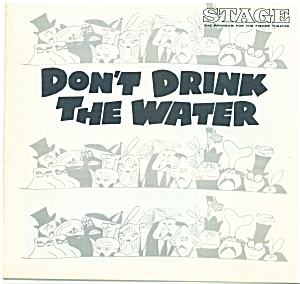 Fisher Stage Progra m - Don't Drink the Water - 1969 (Image1)