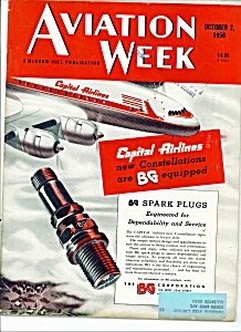 Aviation Week magazine -  October 2, 1950 (Image1)