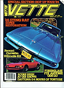 Vette magazine - July 1984 (Image1)